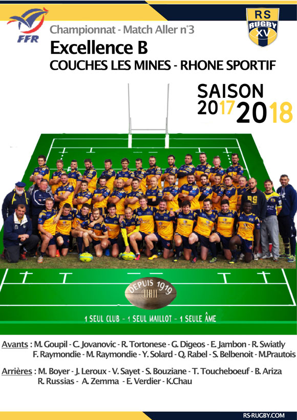 Excellence B - Rhone sportif Rugby - match allé 3