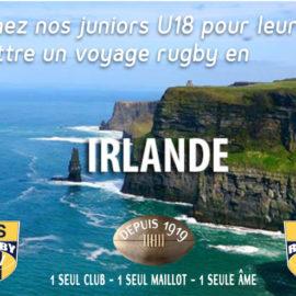 RS Rugby : Voyage des Juniors U18 en Irlande