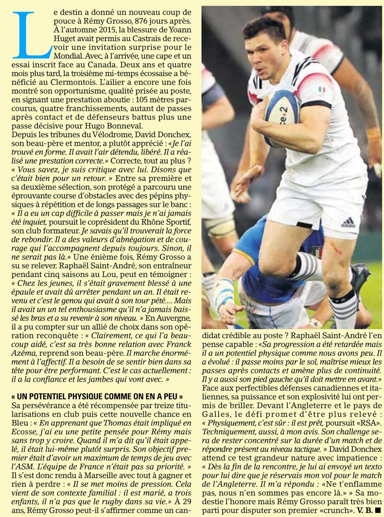 Rugby Lyon Rhone Sportif Rugby Remy Grosso