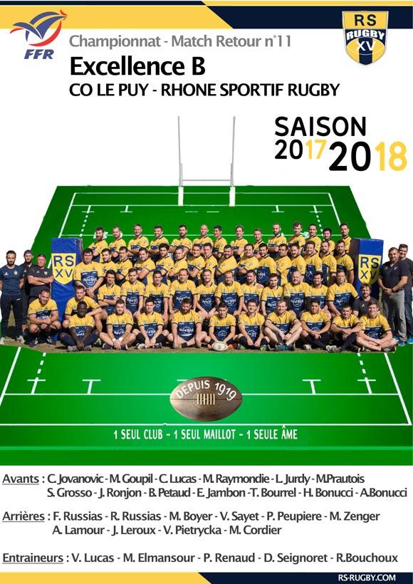 Rugby Lyon Club Rhone Sportif LePuy équipe B