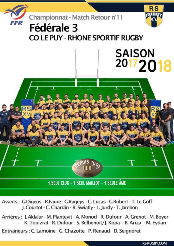 Rugby Lyon Club Rhone Sportif LePuy une