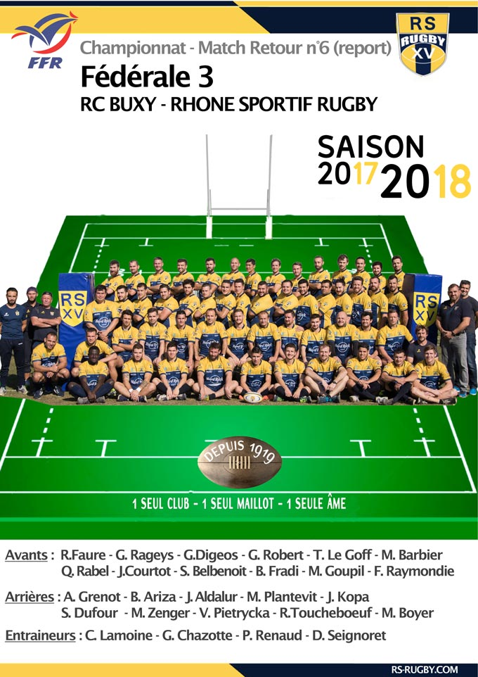 Rugby Lyon - RS Rugby - RC BUXY
