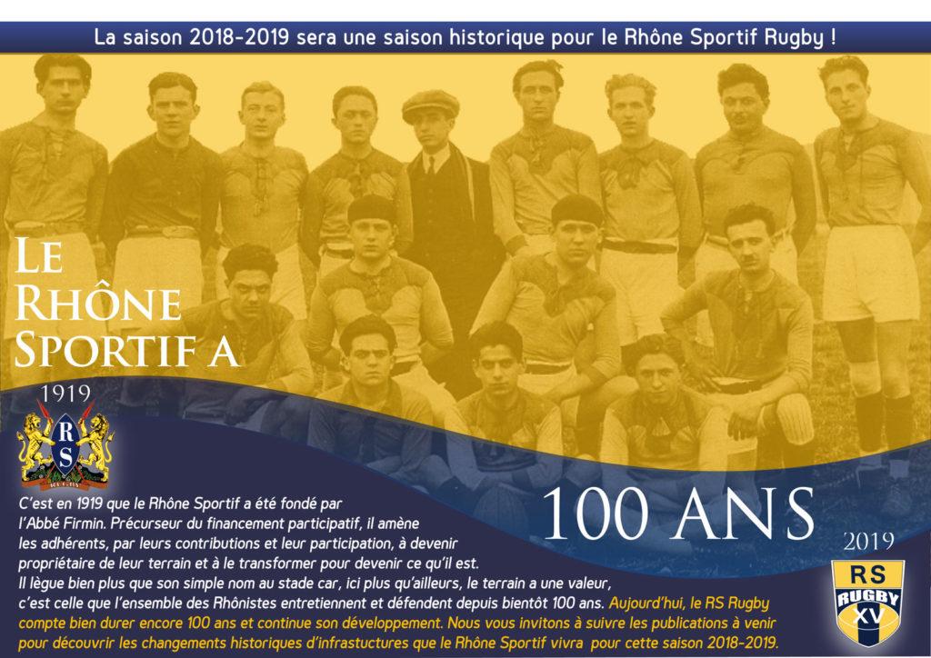 Rugby Lyon Villeurbanne Rhone Sportif saison 2018-2019