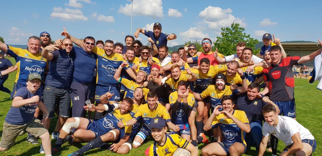 Rugby Lyon Rhone sportif en 8eme de finale