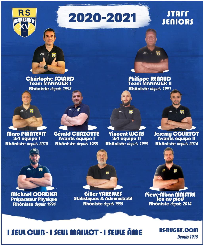 Rugby Lyon Staff Officiel Rhone Sportif