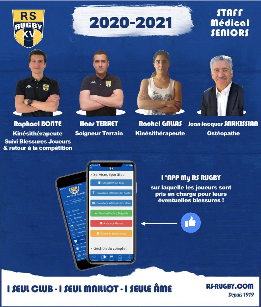 Rugby Lyon Staff médical Rhône Sportif Rugby
